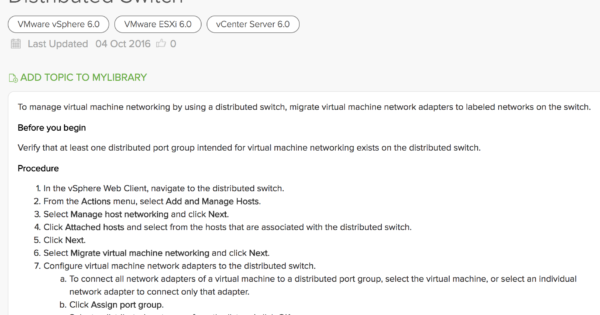 Migrating to the vSphere Distributed Switch (vDS